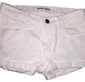 American Apparel Cuffed Shorts White