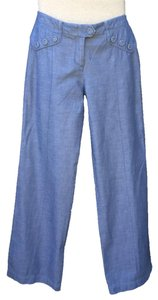 Anthropologie Sailor Wide Leg Pants Chambray
