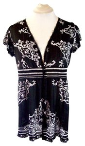 RQT Cover Up Sheer Top Black