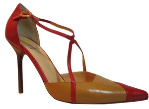 BALLIN Red & Caramel Pumps