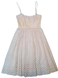 Tracy Reese Cocktail Eyelet Lace Cotton Dress