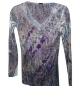Daytrip T Shirt Purples and grey