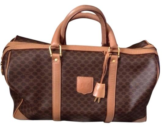 Céline Nude And Dark Brown Travel Bag