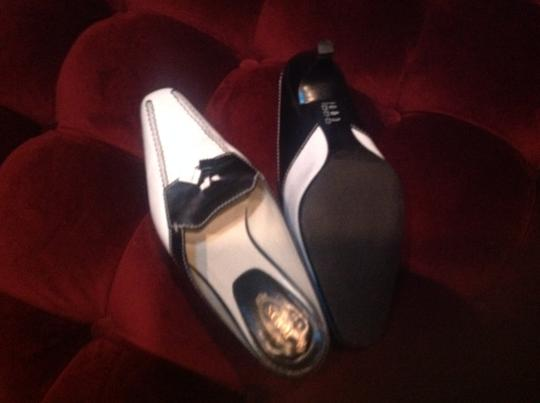 Tod's Spectator Designer Black and White Mules