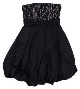 Alice + Olivia short dress Black Embellished Strapless on Tradesy