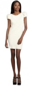 A.B.S. by Allen Schwartz With Rosette Shoulders And Open Back. Dress