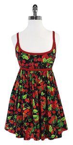 Moschino short dress Black & Red Cherry Print on Tradesy