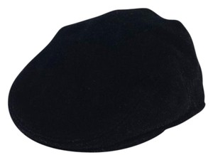 Burberry Black Felt Driving Cap Cape
