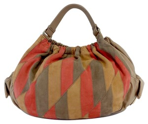 Marc by Marc Jacobs Tan Orange Coral Leather Hobo Bag