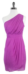 Shoshanna short dress Fuchsia One Shoulder on Tradesy
