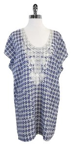 Twelfth St. by Cynthia Vincent Blue & White Print Dress