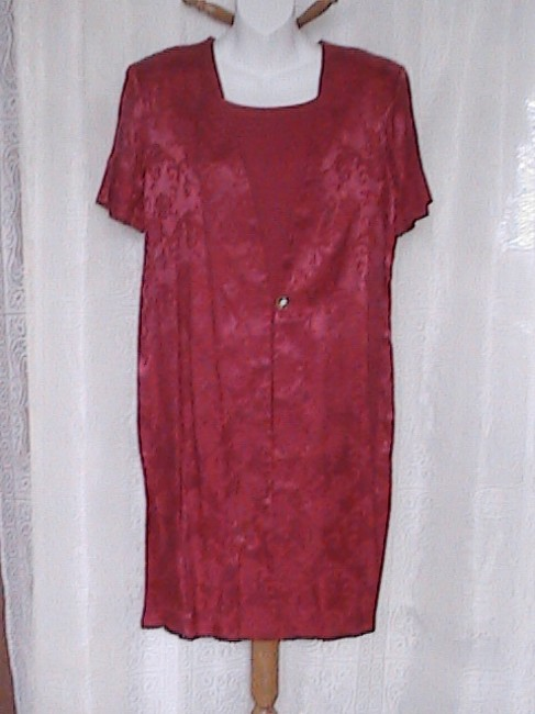 Another Thyme short dress Floral Red Dress on Tradesy