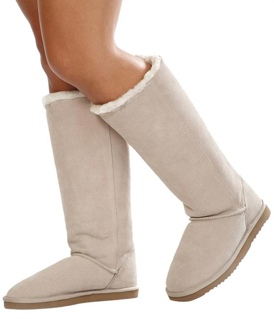 Item - Sandshell Tan Cozy Faux Shearling Sand Colored Tall Zipper Boots/Booties Size US 8 Regular (M, B)