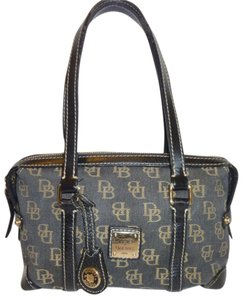 Dooney & Bourke Refurbish Tote Hobo Canvas Monogram Satchel in Black