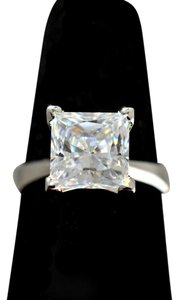 Lab-created Diamond 3.01 Carat Princess Cut D-color Flawless 14k