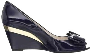 Vince Camuto Navy Wedges
