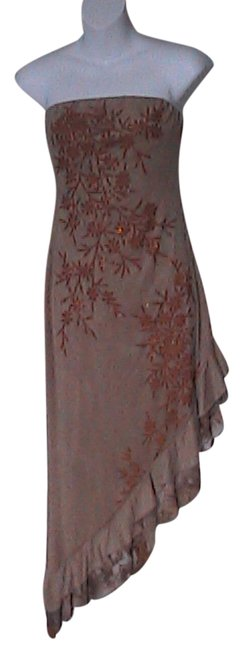 Preload https://img-static.tradesy.com/item/1527958/brown-floral-strapless-long-cocktail-dress-size-6-s-0-0-650-650.jpg