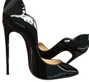 Christian Louboutin Patent 120mm Hot Chick Black Pumps