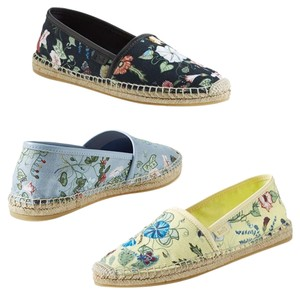 Gucci Yellow floral Flats