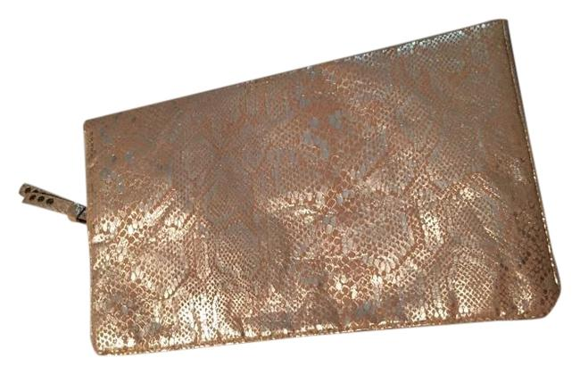 Item - Zip Snap Go Sparkly Gold/Orange Canvas and Cloth Clutch