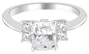 Avi and Co 2.10 cttw Radiant Cut Diamond Engagement Ring 18K White Gold