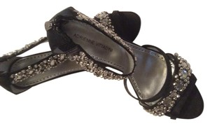 Adrienne Vittadini Black silk Sandals