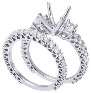 Avi and Co 2.20 cttw Round Brilliant Cut Diamond Engagement Wedding Set 18K White Gold