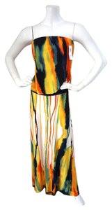 Multi-Colored Maxi Dress by Pookie and Sebastian Maxi New Size 6 Maxi Strapless Maxi
