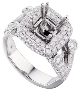 Avi and Co 2.25 cttw Round Diamond Split Shank Halo Engagement Semi-Mounting 18K White Gold