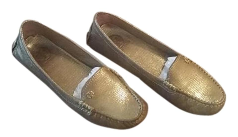 Tory Gold Burch Gold Tory Arianna Driving Loafer Flats 5df139