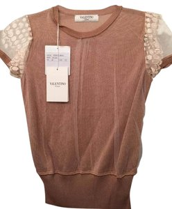 Valentino Lace Natural Chic Top Dusty Pink