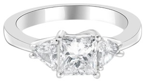Avi and Co 1.40 cttw Princess Diamond Engagement Ring Trillion Side Stones 14K White Gold