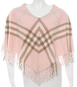 Burberry Cashmere Nova Check Plaid Cape