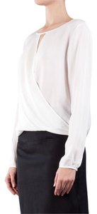 Theory Silk Sheer Top white
