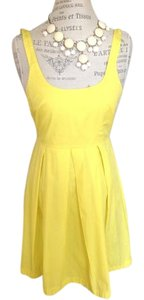 Trafaluc short dress Yellow Feminine on Tradesy