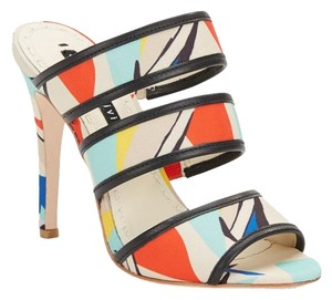 Alice + Olivia Red/White/Blue Sandals