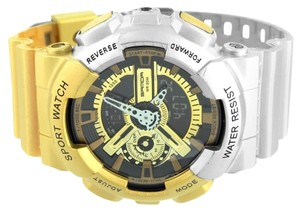 Mens Shock Resistant Watch Gold Silver Sports Editions Digital Analog Brand New