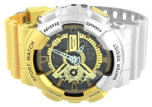 Other Mens Shock Resistant Watch Gold Silver Sports Editions Digital Analog Brand New (37)