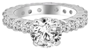 Avi and Co 3.61 cttw Round Brilliant Diamond Eternity Engagement Ring in Platinum