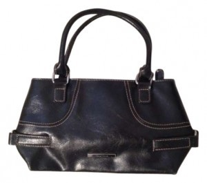 Nine West Tote in Black and white pin stripes