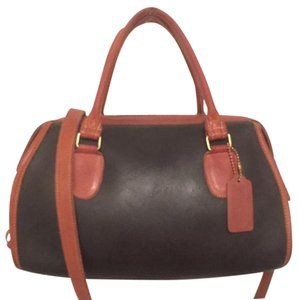 Coach Vintage Leather Dr Satchel in Black, Brown