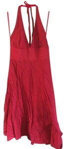 J.Crew short dress Red Halter V-cut on Tradesy