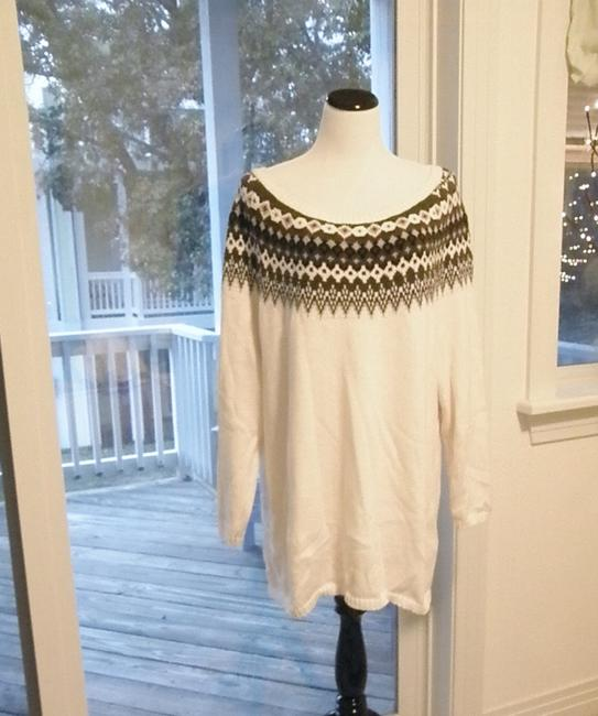 Old Navy Off Shoulder Fair Isle Classic Tunic Sweater