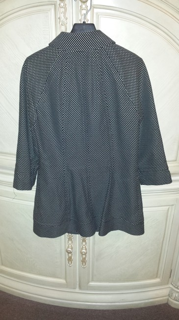 Dana Buchman black with white pin dots Jacket