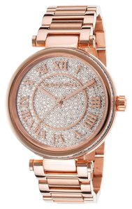 Michael Kors 100% New Michael Kors Skylar Crystals Dial Lady Rose Gold Watch MK5868