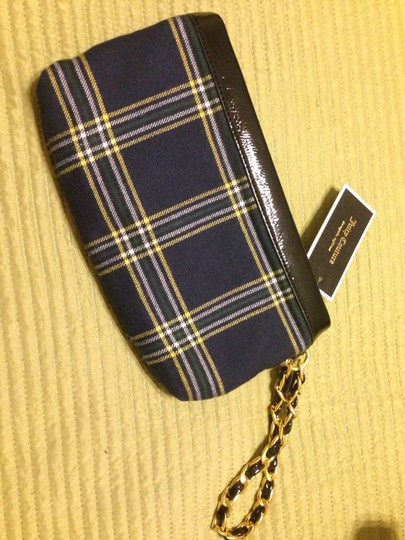 Juicy Couture Wristlet in Navy, Plaid, Black Accents