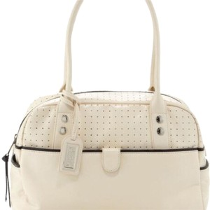 Badgley Mischka Satchel in Oyster White