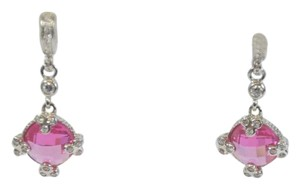 Other WOMEN'S SILVER PLATED ROUND PINK DROP DANGLE EARRINGS