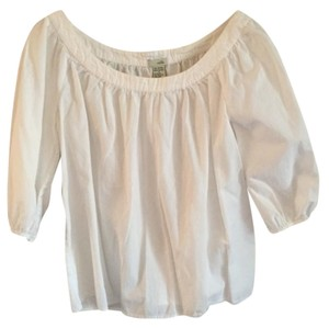 Anthropologie Odille Boat Neck Top white