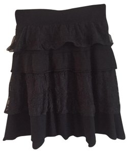 Tulle Knit Skirt black